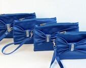 Big sale -Bridesmaid clutch,bow wrisltet clutch,bridesmaid gift ,wedding gift,royal blue, ,piece 9.90 USD