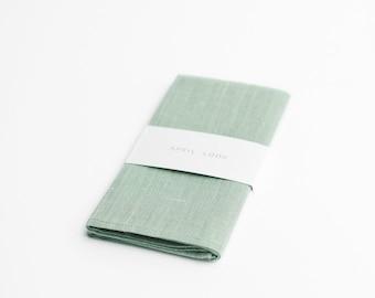 Pocket square for men in pale green
