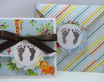 Jungle Baby Gift Card Holder and Envelope Set