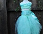 Jasmine Princess Costume  Harem pants and crop top 2 piece set