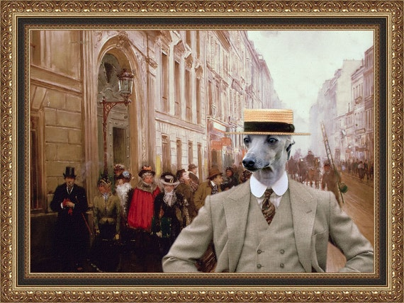 Italian Greyhound Art Iggy Art Iggy Print Italian Greyhound Portrait Custom Dog Portrait Piccolo Levriero Italiano Windspiel