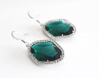 Emerald & Crystal Glass Drops