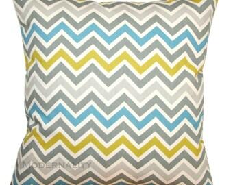 Chevron Pillow, Summerland Citrine Pillow Cover, Decorative Pillow, Zoom Zoom Pillow, Throw Pillow Cover, Zippered Pillow, Zig Zag Pillow