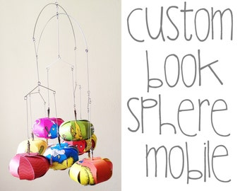 Custom Book Sphere Mobile / Nursery Decor, Nursery Mobile, Modern Mobile, Crib Mobile, Book Mobile