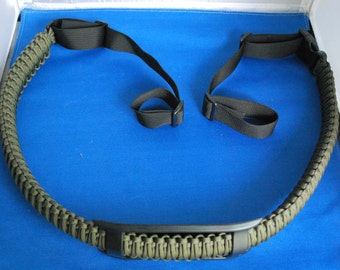 "Paracord Gun Sling - OD 550 Paracord with 1"" Backpack Buckles"