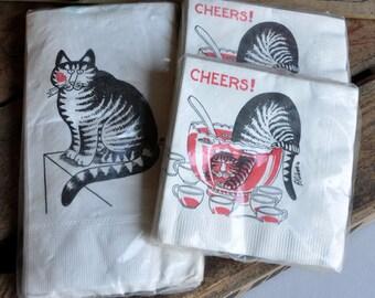 RARE B. Kliban Cat Paper Napkins - New Old Stock - 3 Packs