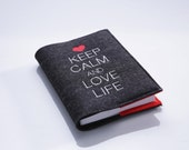 "2016 Calendar/Diary/Notebook with felt envelope ""Keep calm and..."""