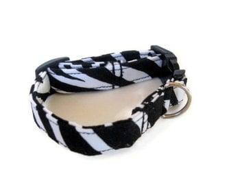 Zebra Dog Collar size Small