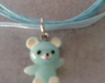 Teddy Bear Children's Necklace Girls or Toddler Jewelry