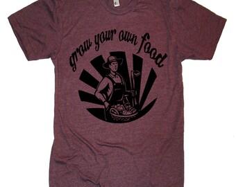 Grow Your Own Food T Shirt - Mens Tshirt - XS S M L Xl 2Xl (15 Color Options)