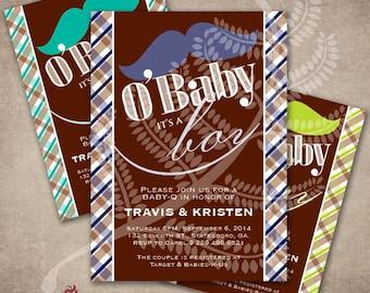 Baby Q Shower Invitation, Baby Q Baby Shower, Moustache Shower Invitation, Boy Baby Q, BBQ Baby Shower Invitation, BBQ Shower Invitation