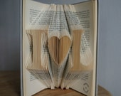 First anniversary gift for boyfriend-cadeau de Noël pour couple-Initial Folded Book Art