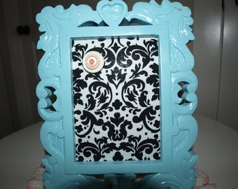 Magnetic Memory Bulletin Board Shabby Chic Carved Wood  Picture Frame