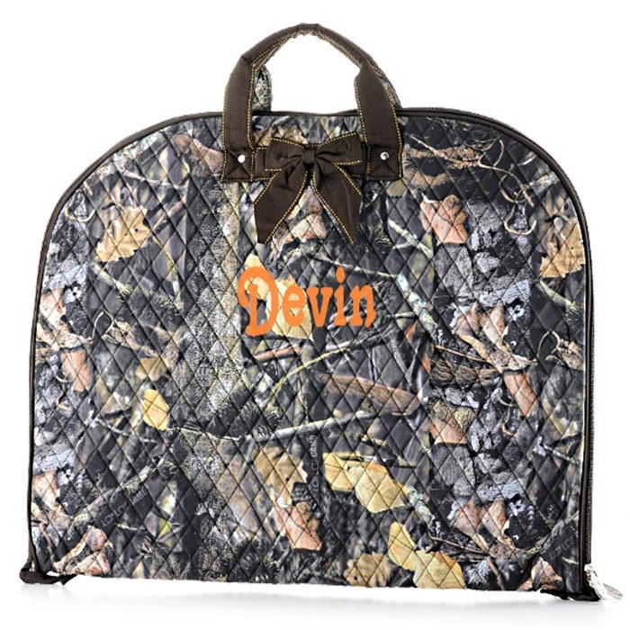 personalized garment bag real tree camo pattern monogrammed