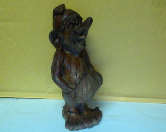 Vintage Hand Carved Wooden Troll made in Scandinavia