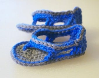 BOGO BOGO BOGO Crochet Baby Boy Flip Flops - Pick Your Colors -  Baby Boy Sandal - Sporty Sandal For Boys Or Girls