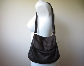 MADE TO ORDER Brown Crossbody with flap closure and adjustable strap