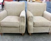 "Norwalk Chairs in ""French Linen"" Chenille - Totally Refurbished"