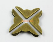 40Pcs 22mm Antique Brass Book Corner Bookbinding Corner Clip (BOOKCOR16)