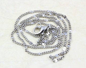 10Pcs 41cm long Silver Necklace Chains Jewelry Links Oval Chains (PND-LIANZI1)