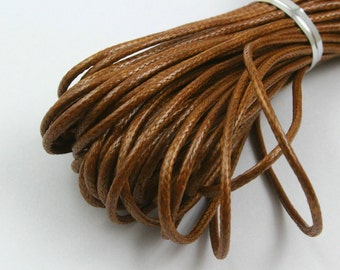 10 Yards 1.5mm Brown Wax Cord Korea Polyester Cord Poly Bracelet Thread Cord (LAXIAN42)