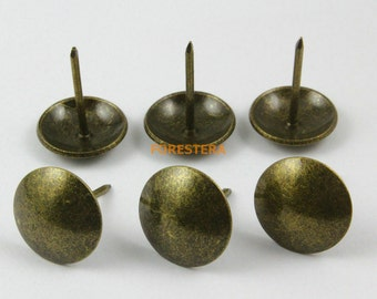 100Pcs 20mm Antique Brass Upholstery Tacks Nails (TN26)