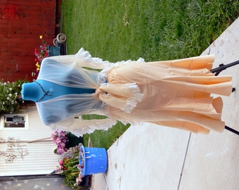 summer cotton skirt size 8-10 and sheer cover up