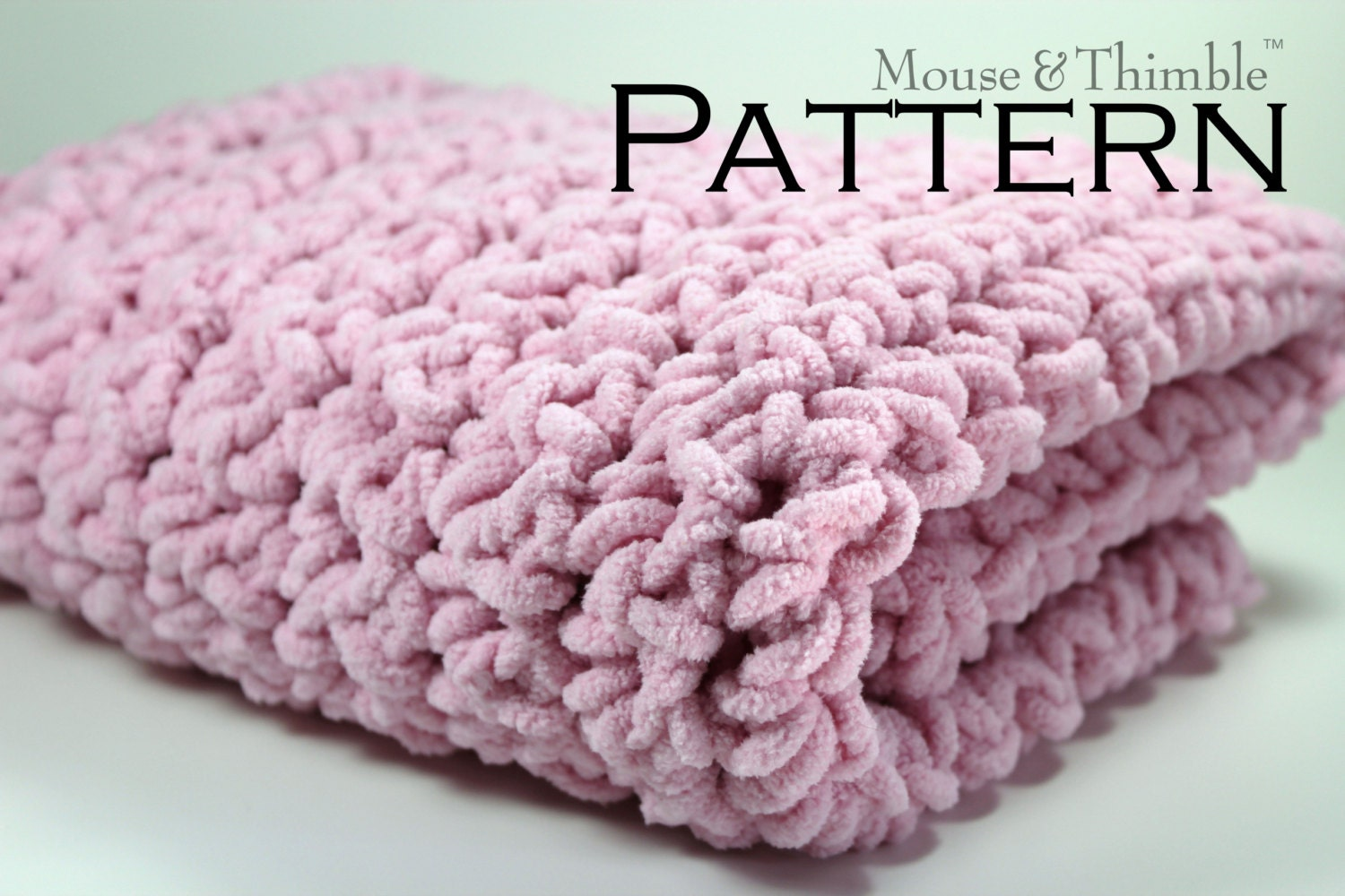 Chunky Fleece Baby Blanket Super Bulky Crochet by MouseAndThimble