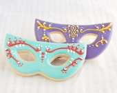 ... Gras Mask Cookie Favors - 1 doz. - Quinceanera Masquerade on Etsy