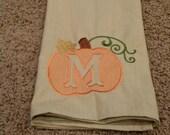 Personalized Pumpkin Dish Towel
