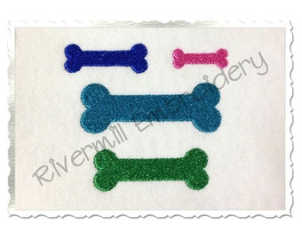 Mini Dog Bone Machine Embroidery Design - 4 Sizes
