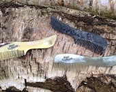 Beard Comb Hand Made & Hand Cut from Ox Horn, sold in Paul Smith
