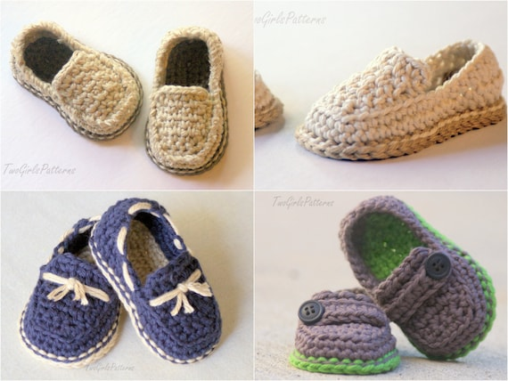 Crochet Pattern For Baby Boat Shoes : CROCHET PATTERN 120 Baby Lil loafers pattern pack