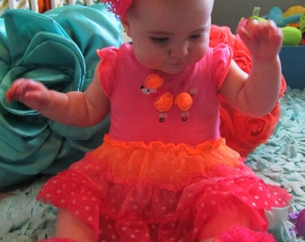 Baby Barefoot Sandals and Matching Headband Hot Pink Lace