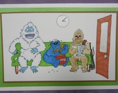 Monster Waiting Room Blank Card