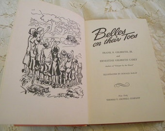 Belles on Their Toes by Frank Gilbreath 1950 third printing vintage book