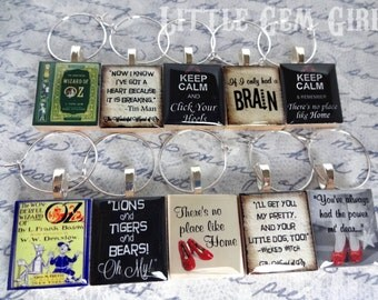 Wizard of Oz Wine Charms - YOU PICK 10 Designs - Dorothy Ruby Slippers - No Place Like Home - Yellow Brick Road Pendants