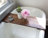 Rustic Wood Bathtub Tray - Walnut Bath Tub Caddy Wooden Bathtub Shelf Computer Desk Gaming Board Clawfoot Tub Tray Handmade