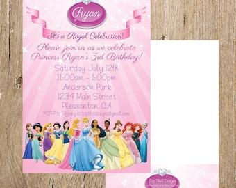 Disney Princess Birthday Invitation- Digital