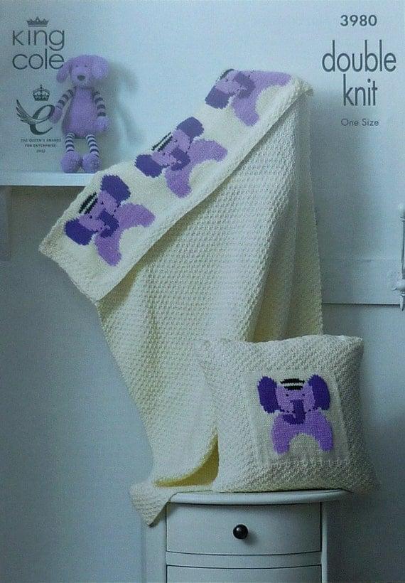 Knitting Pattern Baby Blanket Elephant : Baby Knitting Pattern K3980 Babies Elephant by ...