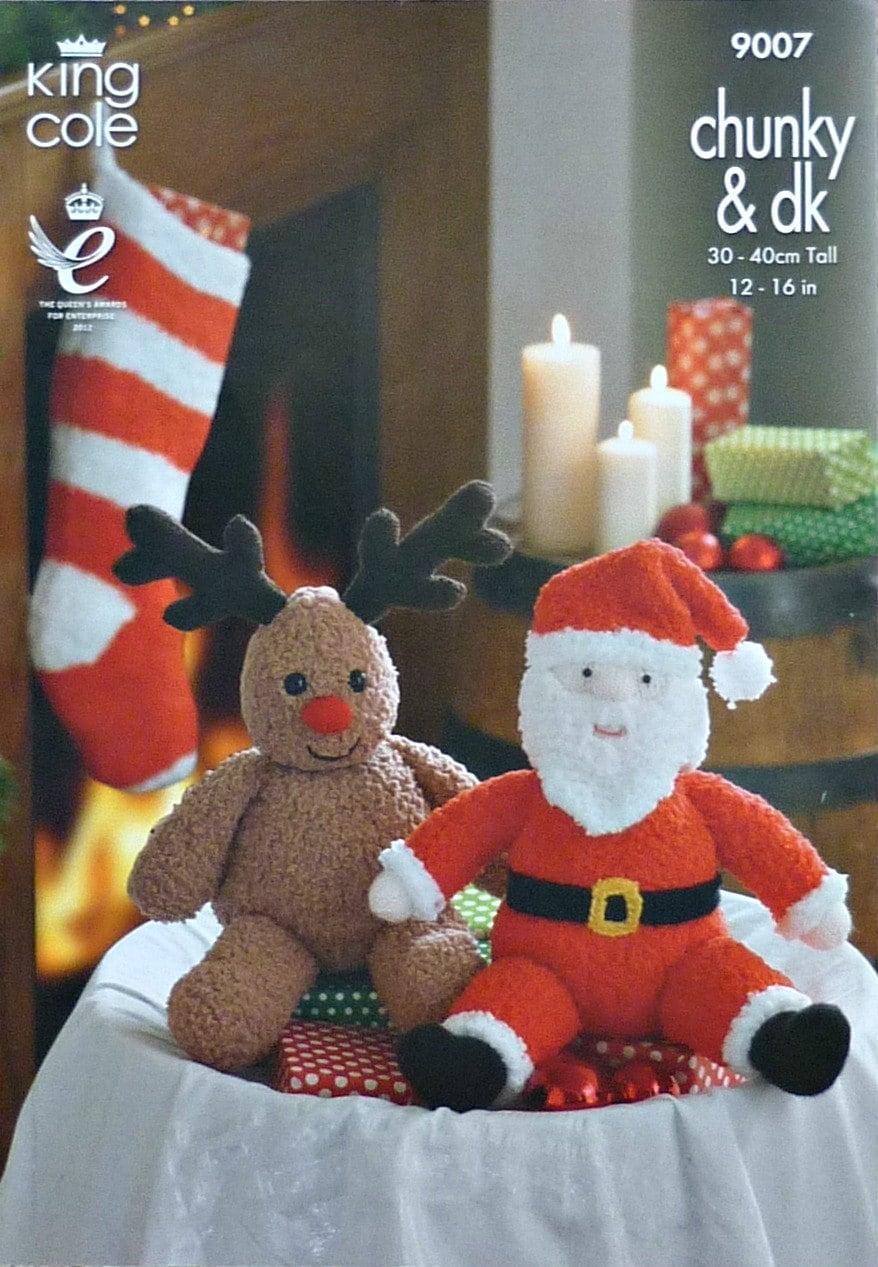 Christmas Stocking Knitting Pattern Bulky : Christmas Knitting Pattern K9007 Christmas Toys and Stocking Knitting Pattern...