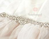 "Crystal Bridal Sash Rhinestone Bridal Beaded Crystal Rhinestone Sash Wedding Sash 13"""