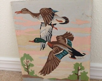 1960 Wild Duck Mallard Paint by numbers vintage