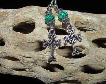 Celtic Cross Earrings