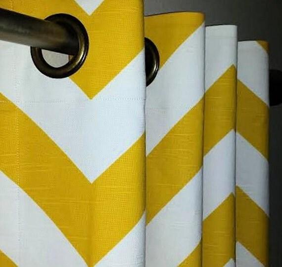 passe fil haut rideaux en ma s jaune et blanc zig zag chevron. Black Bedroom Furniture Sets. Home Design Ideas