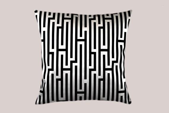 Decorative Pillow Case Thick Silver White Decorative Fabric