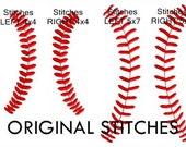 Baseball Softball Stitches Machine Embroidery Digital Design File  4x4 5x7 6x10