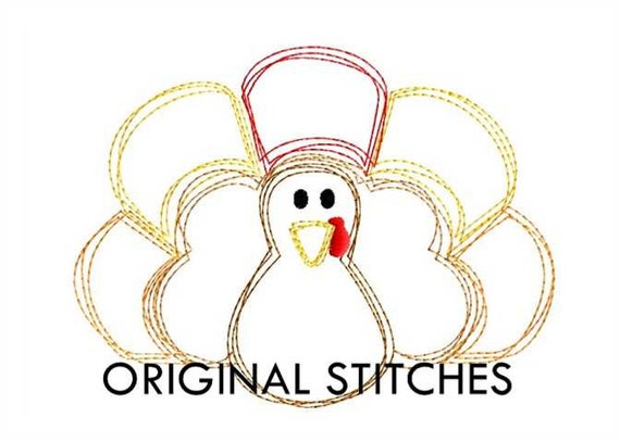 Quick Stitch Turkey Machine Embroidery Digital Design File