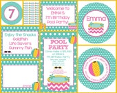 Pool Party Printable Party Set (Girls)