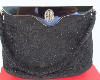 Dofan Micro Beaded Handbag Art Deco Purse Antique Bag Retro Vintage Fashion Mad Man Accessory